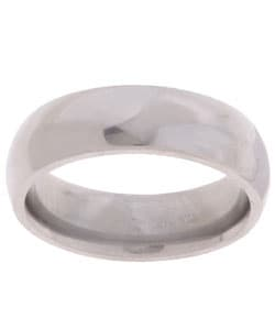 Men's Titanium Polished and Domed Band (6 mm)