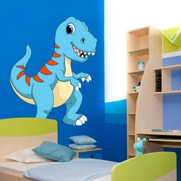 """Dinosaur Animals Kids Full Color Wall Decal Sticker K-876 FRST Size 46""""x56"""" 34930162"""