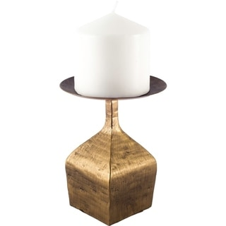 Mercana Otto II Short Brass Metal Table Candle Holder
