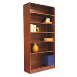 Alera Radius Corner 6-Shelf Bookcase With Finished Back