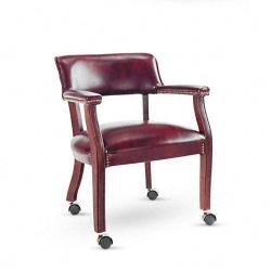 Alera Century Series Guest Arm Chair with Casters