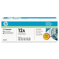 HP Q2612AD (HP 12A) Toner with 2000 Page-Yield, Black (Pack of 2)