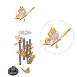 Solar-powered Color-changing Butterfly Wind Chime