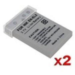 EN-EL5 ENEL5 1100mAh Li-Ion Battery for Nikon Cameras (Pack of 2)