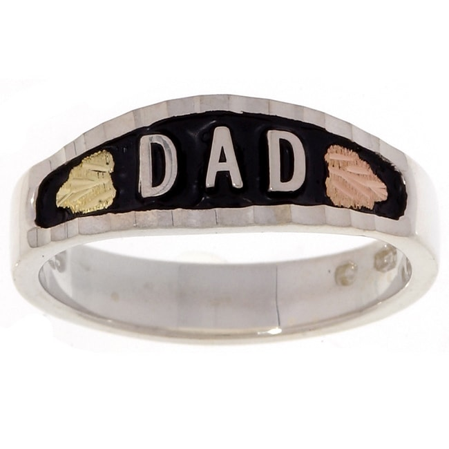 Black Hills Gold and Silver DAD Ring