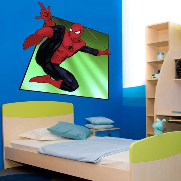 "Comics Hero Spider Man Full Color Wall Decal Sticker K-979 FRST Size 30""x30"" 34975893"