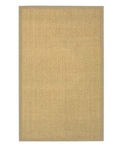 Hand-woven Beige Border Seagrass Rug (5' x 8')