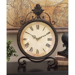 Gracewood Hollow Baldwin Wrought Iron High-leg Base Clock