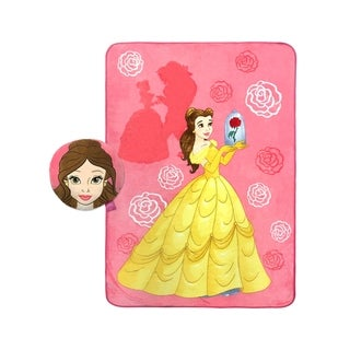 Disney Beauty and the Beast Bell Nogginz and Travel Blanket Set