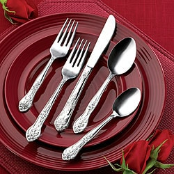 Rogers Co. Rose Elegance Stainless Steel 40-piece Flatware Set