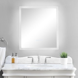 """smartLED Illuminated Fog-Free Bathroom Mirror with Built-In Bluetooth Speakers and Dimmer - 24"""" x 27"""" - Silver - 24"""" x 27"""""""