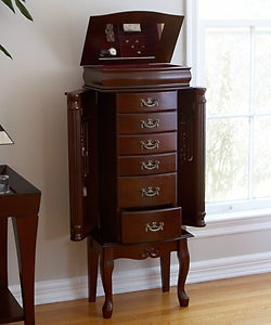 Mahogany Medium Jewelry Armoire
