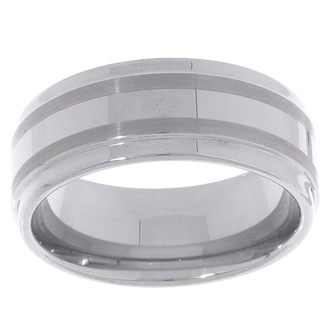 Men's Tungsten Carbide Fancy Band (8 mm)