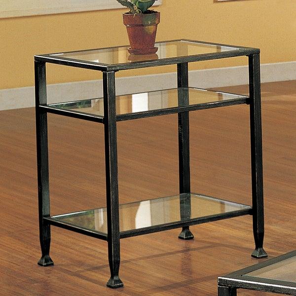 Harper Blvd Bunch Metal Glass End Table