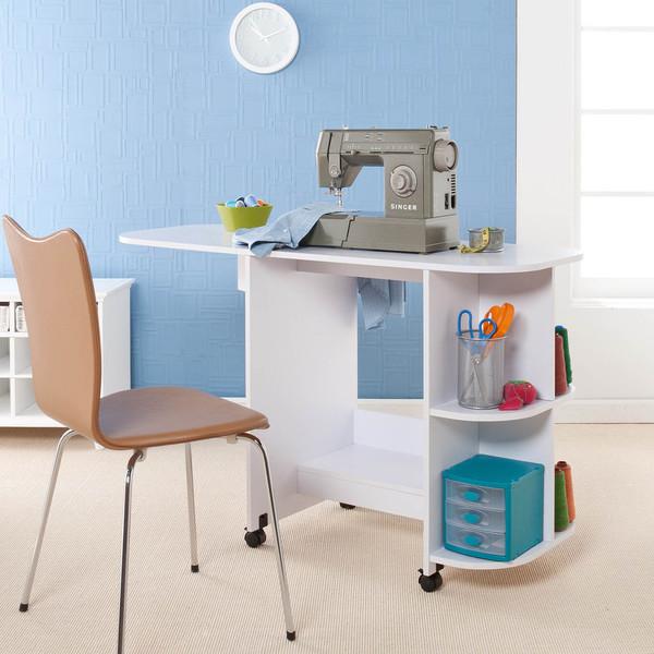 Southern Enterprises White Sewing Table