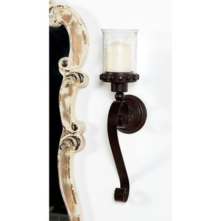 Copper Grove Chatfield Dark Brown Wrought Iron Wall Mount Sconce