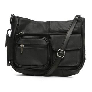 Journee On the Go Leather Handbag