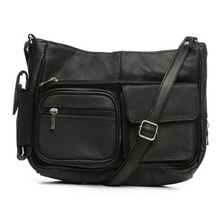 Journee On the Go Leather Handbag