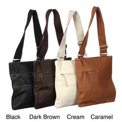 Amerileather Women's Slim Cross-Body Messenger-style Bag
