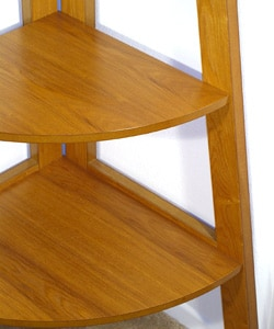 Wooden 5-tier Corner Bookshelf