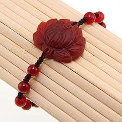 Agate Lotus Flower Bracelet (China)