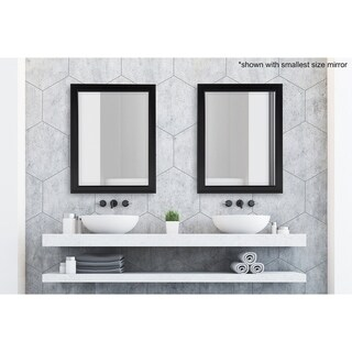 Bosc Framed Decorative Rectangle Wall Mirror