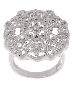 Sterling Silver Antique Style Filigree Ring
