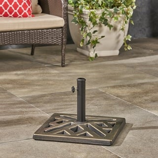Tally Outdoor Concrete Square Umbrella Base by Christopher Knight Home
