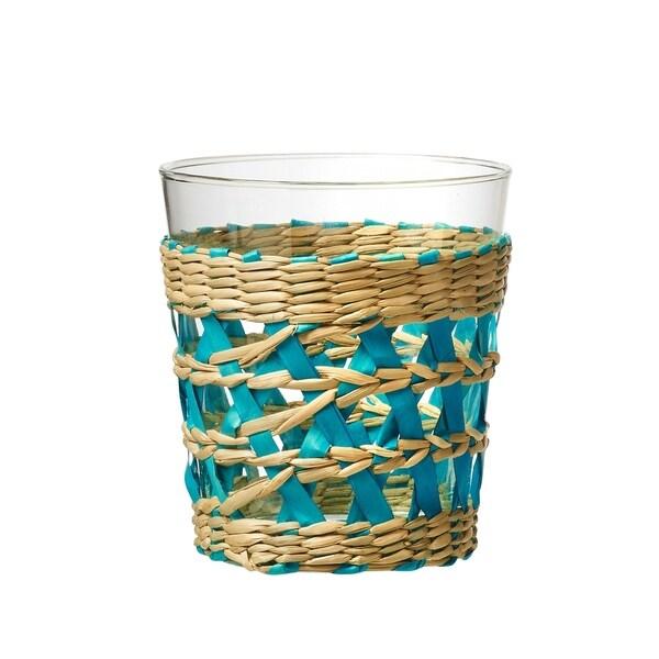 La Bamba Double Old Fashioned Drinking Glass, Aqua, Set of 4, 13 oz 35146993