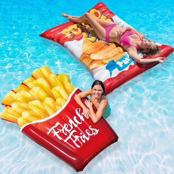 Intex French Fries and Potato Chips Float Combo Pack for Swimming Pools 35147718