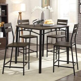 Furniture of America Vae Rustic Brown Metal 5-piece Counter Set