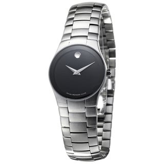 Movado Strato Women's Black Dial Steel Watch