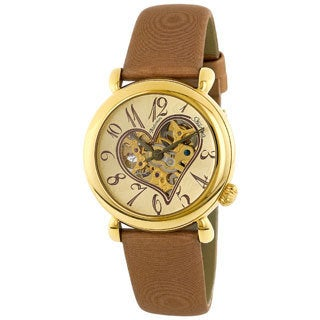 Stuhrling Original Women's Cupid II Gold Open Heart Watch