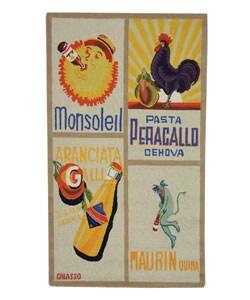 Safavieh Hand-hooked Vintage Poster Ivory Wool Rug (2'9 x 4'9)