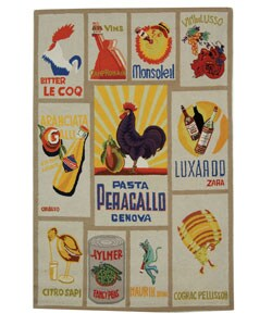 Safavieh Hand-hooked Vintage Poster Ivory Wool Rug (3'9 x 5'9)
