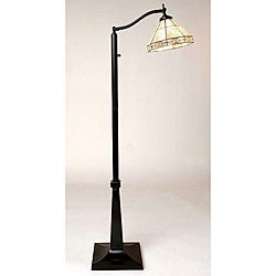 Tiffany-style Mission Reading Lamp