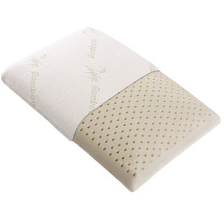Cheer Collection Natural Latex Foam Pillow with Washable Cover - White