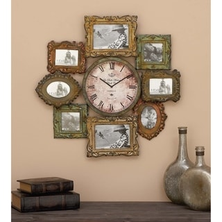 The Curated Nomad Jiminez Metal Clock Photo Frame