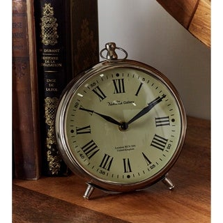 Copper Grove Star Metal 7-inch Table Clock