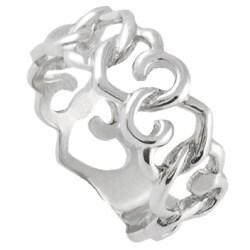Tressa Sterling Silver Interlocking Heart Ring