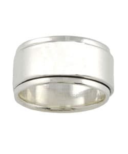 Tressa Sterling Silver Wide Spinner Band