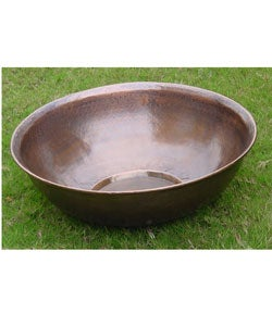 Hand-hammered Large Copper Basin