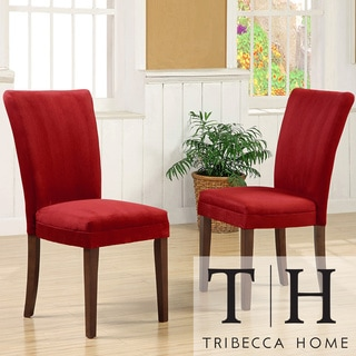 Tribecca Home Parson Cranberry Red Dining Chairs (Set