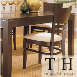 TRIBECCA HOME Venice Espresso Cushioned Dining Chair (Set of 2)