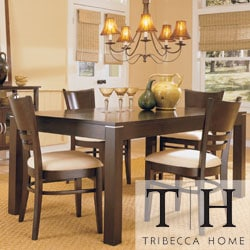 TRIBECCA HOME Venice Espresso Contemporary 5-piece Dining Set