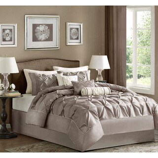 Madison Park Lafayette Taupe 7 Pieces Comforter Set