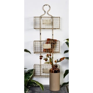 The Gray Barn Joyful Stream Metal 37-inch x 13-inch Basket Shelf