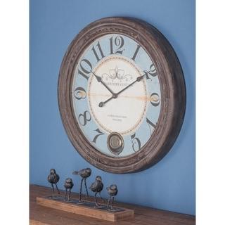 The Gray Barn Joyful Stream Wood Wall Clock 27 inches D