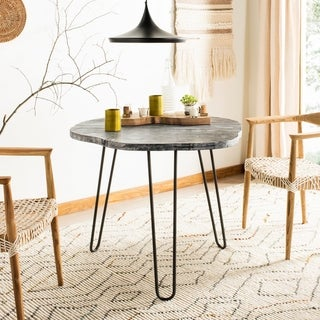 Safavieh Mindy Grey/ White Washed Dining Table - 39.4' x 35.4' x 29.9'