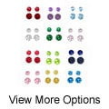 Tressa Sterling Silver 4 mm/6 mm Birthstone CZ Earrings Set